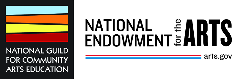 National Guild for Community Arts Education logo and National Endowment for the Arts logo