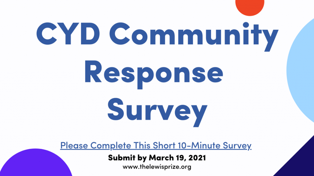 graphic for The Lewis Prize for Music's CYD Community Response Survey