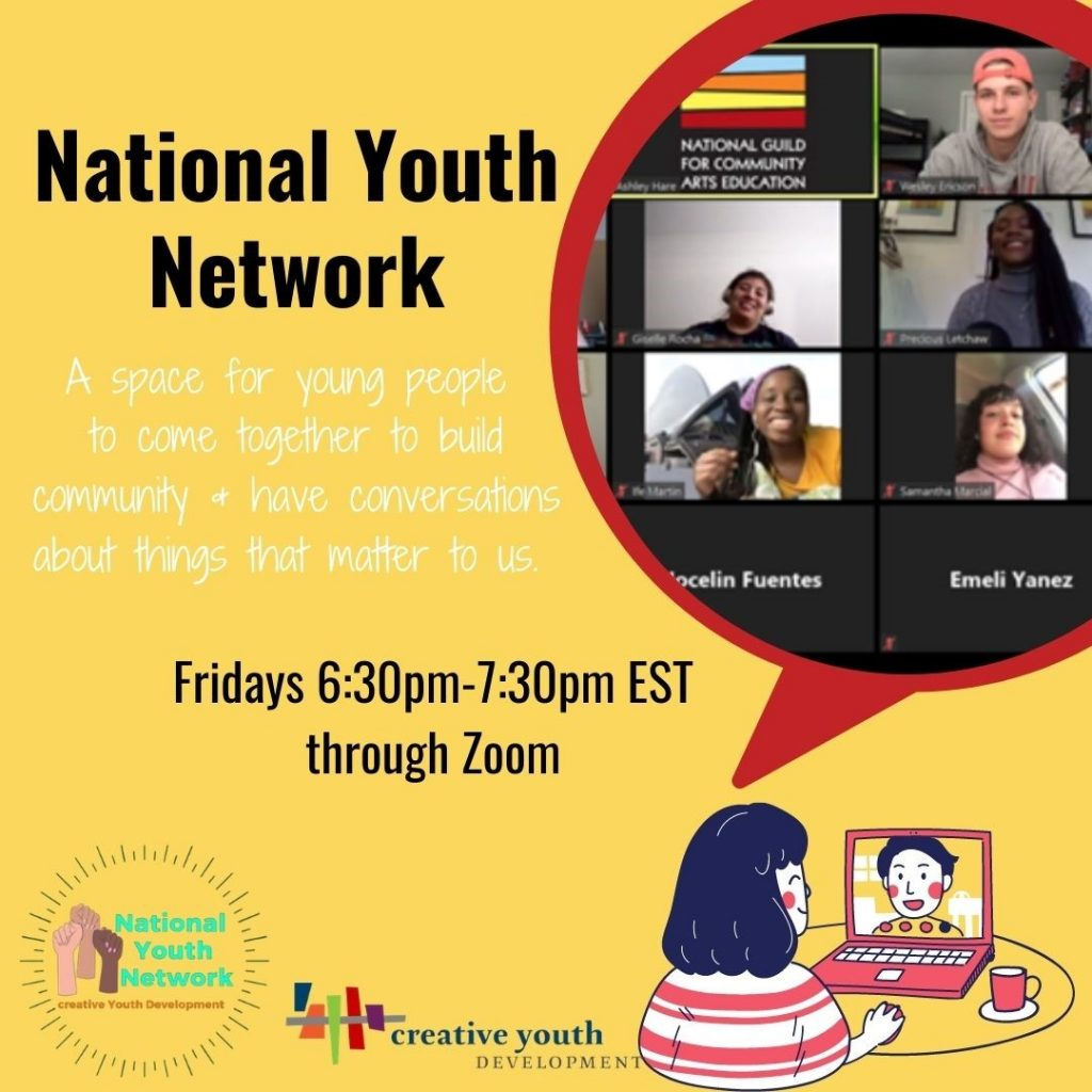 National Youth Netowrk - a space for young people to come together to build community and have conversations about things that matter to us